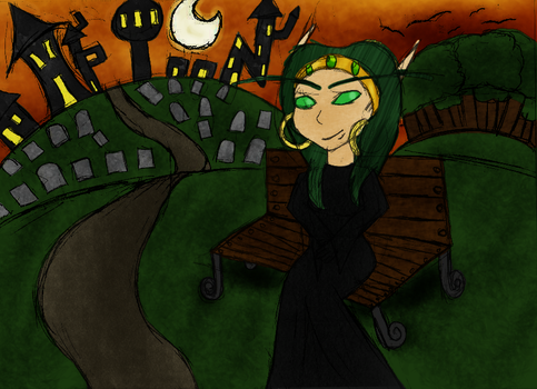 Halloween in the park by TammyTwilightRose