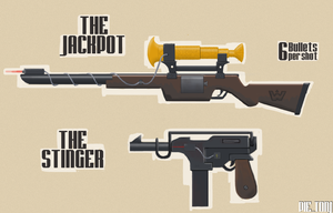 TF2 Sniper: Jackpot n' Stinger by BaronTPie