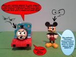 An Inpatient Thomas, An Explaining Mickey by TrainboysArtwork