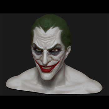 Zbrush - Joker Head Sculpt by GraphiteGrey