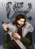 A series of Ice and Fire - Ned Stark by Blueberry-me