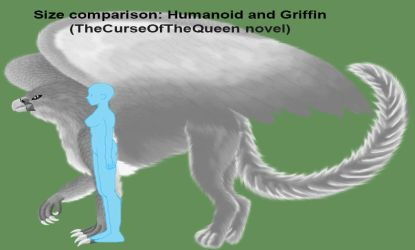 Size Comparison: Humanoid and Griffin by LadyAlluvia