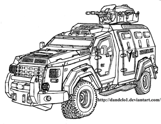 Shoreline Armoured Personnel Carrier - Uncharted by Dandelo1