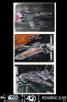 STARWARS 40th Anniversary sketch cards by Art-by-Jilani