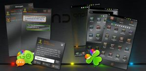 LED Android Go SMS Pro Theme by Jekmyster