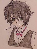 ~~Yuu~~Seraph of the End doodle by Jennablare
