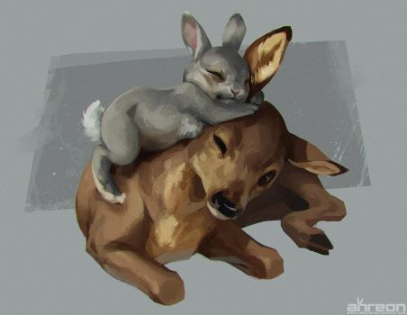 Bambi and Thumper by akreon