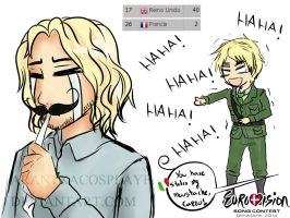 Eurovision 2014 - France and his looser moustache by ArantxaCosplayer