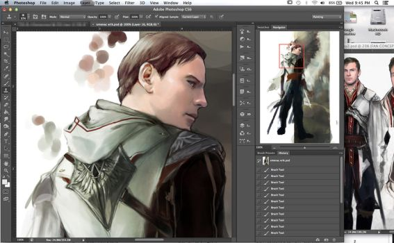 fassbender assassin WIP by Brilcrist