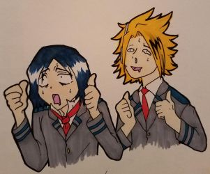Drooling- Starring Hanataro and Denki by ThunderLordess