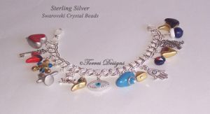 1st Sterling Silver Ocarina of time Bracelet ZELDA by TorresDesigns