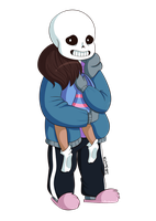 Sans And Frisk by SuperBecky