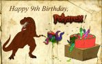 Happy 9th Birthday, Poharex! by Poharex