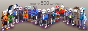 Thanks for 500 Watchers! by GhostLiger