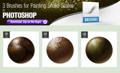 Photoshop Brushes for Painting Snake Scales by pixelstains