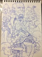 Project: OPUS Pen Sketches by MicahJGunnell