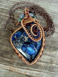 Jasper wire wrapped pendant by Naldor