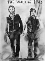 Daryl and Rick by mchofmann