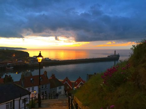 Sunset from the 199 steps by Lisa-Downing