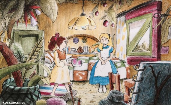 Arrietty and Alice by AoiCancerius