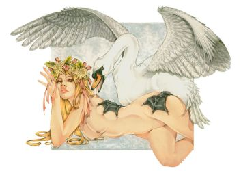 Leda and the Swan by Zoe-Lacchei