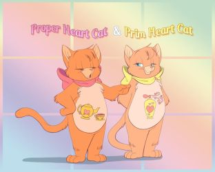 Prim and Proper Heart Cat by ThisCrispyKat