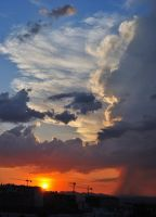 Sunset showers by Fhead