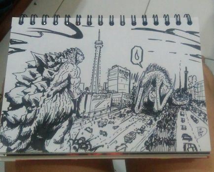 When you are the new Kaiju in town by Dayheart