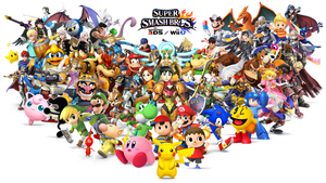 Super Smash Bros for Wii U and 3DS Wallpaper Thing by KHoDrawsStuff789
