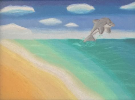Norbert the dolphin by pavementartist