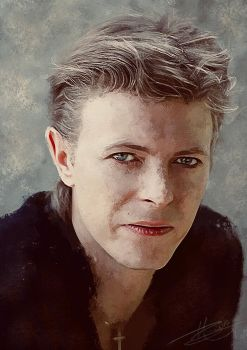 Young David Bowie by paulnery