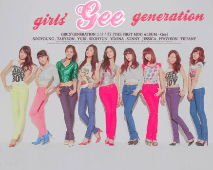 SNSD Gee EP Cover B Fanmade by Superyuffie