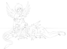 Guardian Devil lineart by EclipseSeraph