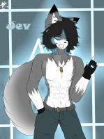 Jev the wolf owo by CutieMonts