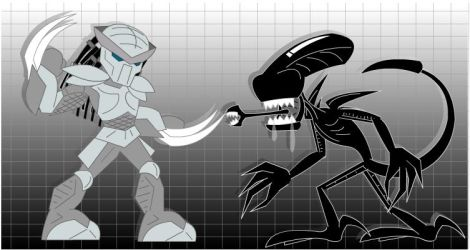 Alien vs Predator Models by LegendaryFrog