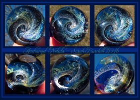 Archangel Nebula glass sphere pendant by fairyfrog