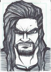 Sketch Card - Roman Reigns by emceelokey
