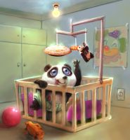 baby panda by BrunofPaiva