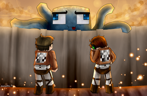 Attack On Minecraft by PsychoPathie