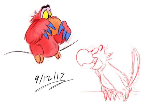 Iago Sketches by Mitch-el