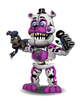 Adventure Nightmare Funtime Freddy by YinyangGio1987