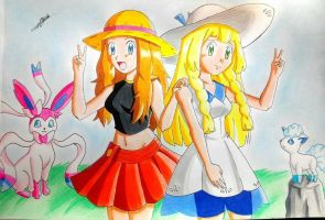 Serena and Lillie  by MuchBlock10