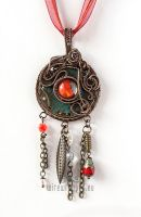 Red eye industrial pendant by ukapala