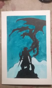 skyrim poster style painting by Raven2100