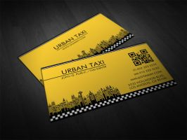 Yellow Cab Taxi Driver Business Cards by es32