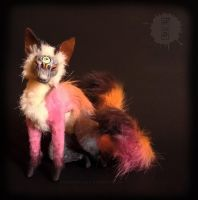 the All-Seeing Kitsune- ooak art doll SALE by hikigane