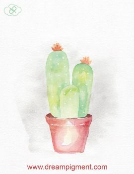 Triple Cactus by DreamPigment