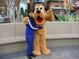 I'm hugging Pluto the Dog photo 2 by Magic-Kristina-KW