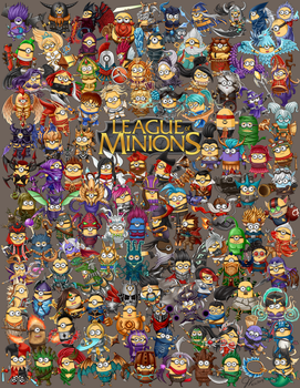 League of Minions by oddish-enigma