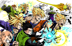 Collaboration DBZ Heroes by Maniaxoi